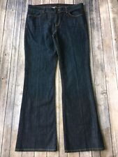 "Talbots Jeans Womens 12 31 Signature Boot Cut Denim Dark Blue 33"" Inseam Stretch"