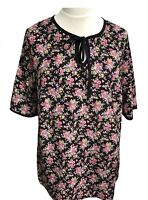 Womens Plus Size Ditsy Floral TunicTop Blouse uk Curves Sizes 18/20 22/24 26/28