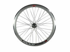 Deep V 43mm Front Silver Wheel for Fixie, Fixed Gear, Track, Single Speed Bike