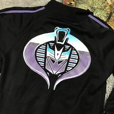 Retro Vtg TRANSFORMERS GI JOE track jacket Cobra Decepticons Men S HASBRO