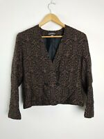 Peter Metchev Vintage Wool Blend Bolero Cropped Jacket Women's Size 8 AU MADE