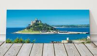 St Michaels Mount panoramic canvas print Cornwall framed picture