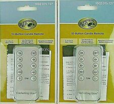 Lot Of 2 Hampton Bay Everlasting Glow 10-Button Candle Remotes (1002 075 727)