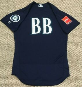 RARE 2019 JAPAN ENEOS BLUE #BB SIZE 42 2019 Seattle Mariners game jersey MLB