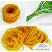 100pcs Rubber Band Office Supplies Ponytail Holder Band Elastic Ties X7K6 W R5Q0