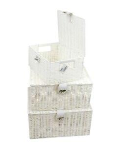 Strong Resin Picnic Gift Storage Hamper Basket Box With lid & Lock