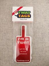 TwatTags sticker games fun, adult drinking game student dinner Party pack UK
