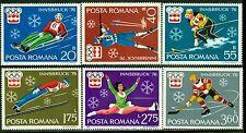 1976 Innsbruck Olympics,Ice hockey,Bobsled,Luge,Figure,Ski,Romania,Mi.3312,MNH