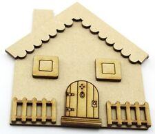 MDF Fairy House/porta, ELF CASA MDF tagliati al laser - 15cm alto 3mm MDF