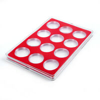 Round Cases Coin Capsules Storage Holder Box Display Container Collection