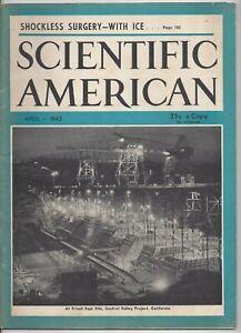 Scientific American Magazine April 1942 WWII Torpedo Lightning Bolts
