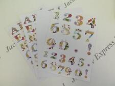 Alphabet & Numbers Die Cut Sticker Pack (110 Die Cuts) 4xA5 Sheets (Pack 1) AM36
