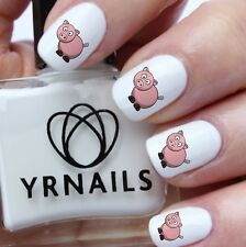 Nail WRAPS Nail Art Water Transfers Decals - Colour Porky Pig - S482