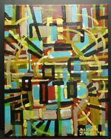 "Ooak Original Acrylic Painting ""Dimension"" 9"" x 12"" by Alison Jakob 2019"