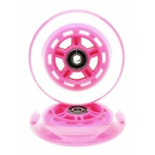 JD Bug 100mm Scooter Wheels with ABEC 5 Bearings -Pink (Pair)