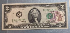 1976 $2 FRB Note First Day of Issue 1976 w/Stamp & Cancel Uncirculated