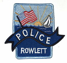 ROWLETT TEXAS TX Police Sheriff Patch SAIL BOAT US FLAG SUNRISE OCEAN BANNER ~