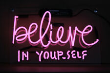 """Neon Light """"Believe In Yourself"""" Home 00006000  Decor Room Bud Beer Poster Wall Sign Tn205"""