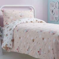 Kids Duvet Covers Pink Sabrina Ballet Dancer Reversible Print Quilt Bedding Sets