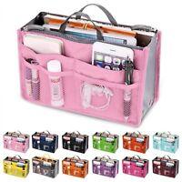 Women Travel Insert Handbag Organizer Purse Large Liner Organizer Tidy Bag
