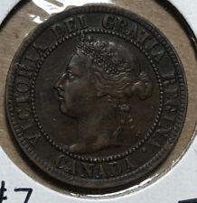 1893 Canada 1 Cent Queen Victoria Coin