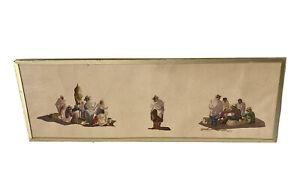 Gilbert RAKOTO (XIX - XX) Peinture Aquarelle Scènes de Vie Malgache Personnages