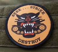 Tank Hunter Seek Strike Destroy Morale Patch Tactical Military Army Flag USA
