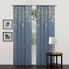 "Lush Decor Flower  Blue Drapes/Curtain Single Panel 42"" x 84"" Cascading Petals"