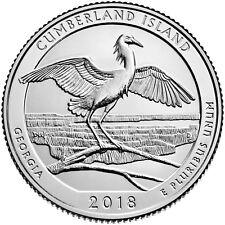 USA : 2 quarters Parcs Nationaux CUMBERLAND ISLAND - 2018 P & D - NEUVES UNC