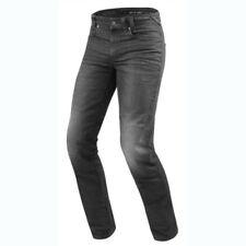 Pantaloni jeans grigi marca Rev ' it per motociclista