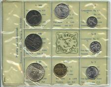 GN057 - Italien Kursmünzensatz KMS 1969 mit Silber UNC Original RAR Italy Italia