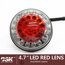 "Red 10 LED 4"" Round Truck Trailer Brake Stop Turn Tail Lights  RV SUV Truck SV"
