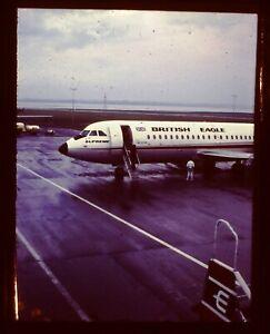 35mm Half Frame Colour Slide - British Eagle Vickers Viscount - 1960's I Think