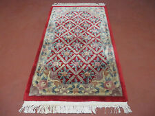 3'X 5' Vintage Hand Made Chinese Art Deco  Wool Rug Carpet
