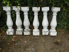 "SET of SIX ANTIQUE BALUSTERS 20"" X 4 3/4"" ARCHITECTURAL SALVAGE"