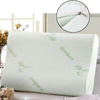 Travel Soft Memory Foam Latex Neck Pillows Bamboo Fiber Pillow Slow Rebound