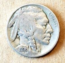 1936-S Indian Head Buffalo Nickel ~ Fine ~ US Coin