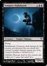 VAMPIRE NIGHTHAWK Zendikar MTG Black Creature — Vampire Shaman Unc
