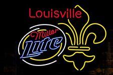 """Miller Lite Louisville Neon Light Sign 24""""x20"""" Beer Bar Decor Lamp Glass"""