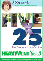 HeavyWeight Yoga DVD Vol. 3- Five By 25 Five 25-minute Unique Sessions New