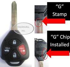 Uncut key keyless remote entry GQ4-29T G stamp transponder control alarm keyfob
