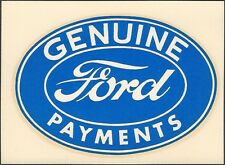 """VINTAGE ORIGINAL 1964 ED ROTH """"GENUINE FORD PAYMENTS"""" SPEED SHOP WATER DECAL ART"""
