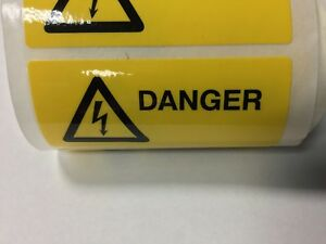 10 x 'Danger' Electrical Safety Warning Labels, 8 x 3cm, free post!