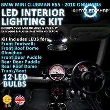 Bmw Mini R55 Clubman Led Interior Completo Full Kit Set Bulbo Xenon Blanco Cooper