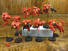 10 METAL AND PLASTIC ASSAULT MARINES PAINTED (551) GREAT UNIQUE POSES