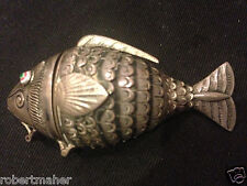 Silver Norwegian Vinaigrette and Snuff Articulated Fish by David Andersen