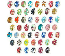 "Ten (10) Assorted  Murano Beads""Charms For Snake Chain Charm Bracelets"