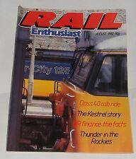 RAIL ENTHUSIAST AUGUST 1982 - CLASS 40 CAB RIDE/THE KESTREL STORY