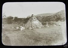 Glass Magic lantern slide CAIRN STONE WHERE COL DICK CUNNINGHAM DIED BOER WAR