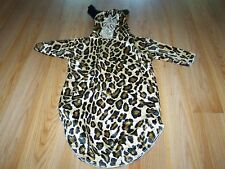 Infant Baby Size 0-3 Months Cheetah Leopard Cat Halloween Costume Bunting EUC